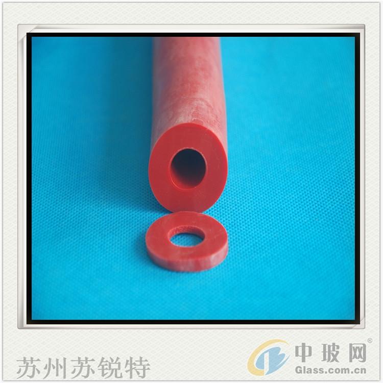 红色硅胶O型发泡空心防尘密封条