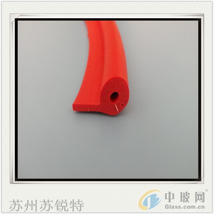 红色硅胶P型发泡防尘密封条