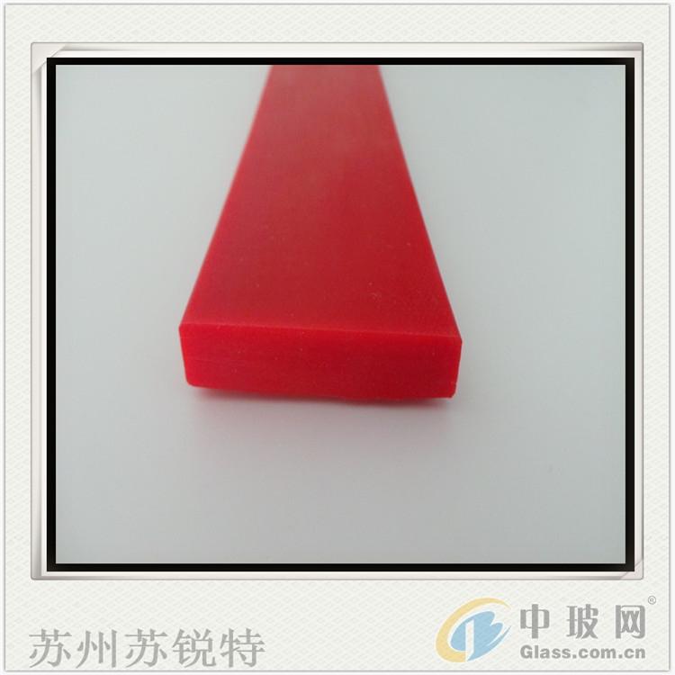 红色硅胶平板发泡防尘密封条