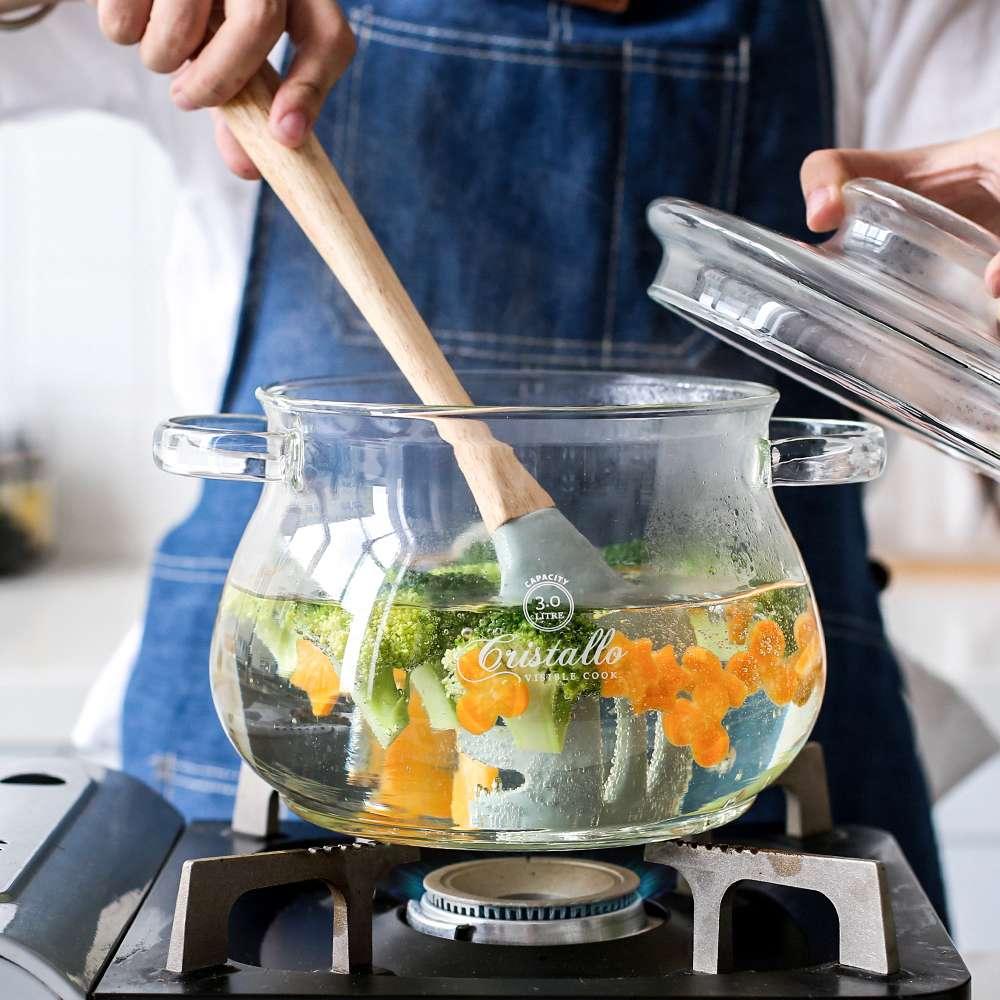 耐热玻璃锅器皿耐高温明火加热电陶炉煲汤锅