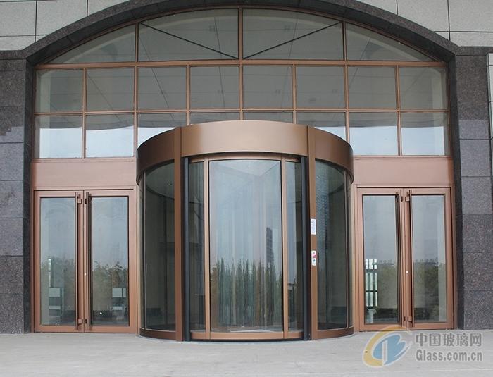 弧形玻璃感应门 佛山自动弧形旋转门厂家