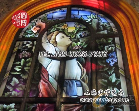 彩色玻璃穹顶抽象艺术自由风个性圆博工艺