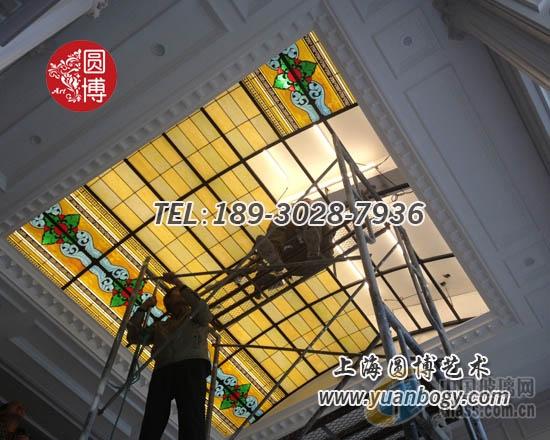 彩绘玻璃穹顶工厂直销圆博工艺