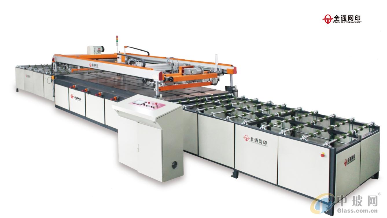 全通网印全自动四柱跑台平面玻璃丝网印刷机生产线印刷线深圳丝印机厂家直销