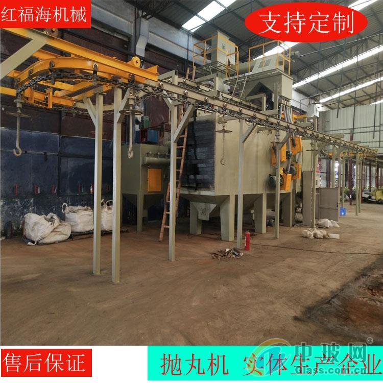 悬链式抛丸机网带输送式抛丸机玻璃喷砂器材厂