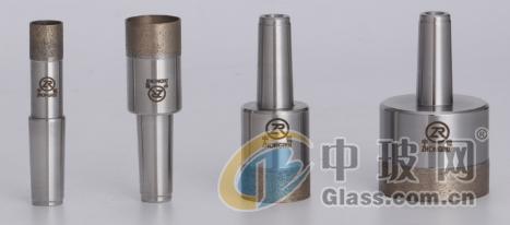 供应青铜烧结直柄玻璃钻头