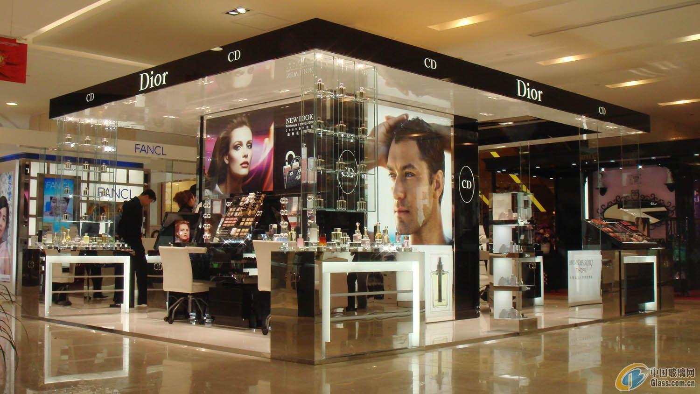 供应化妆品柜台玻璃