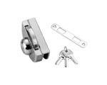 供应玻璃门锁-DC-206半圆单锁单门