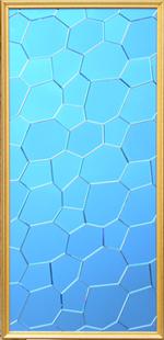 5mm水立方宝蓝色的艺术玻璃拼镜