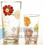印花玻璃水杯