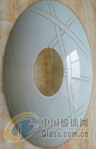 中山采购-圆形丝印烤弯灯具玻璃
