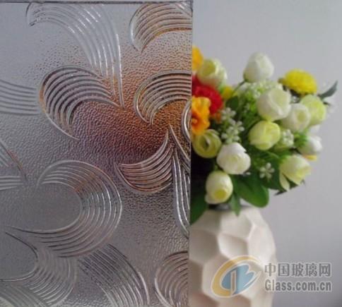 深圳压花玻璃-五月花