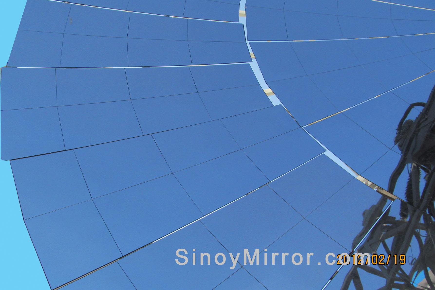 供应1.1mm超薄太阳能聚热反光镜