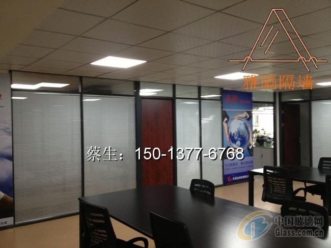 深圳办公室玻璃百叶高隔断供应