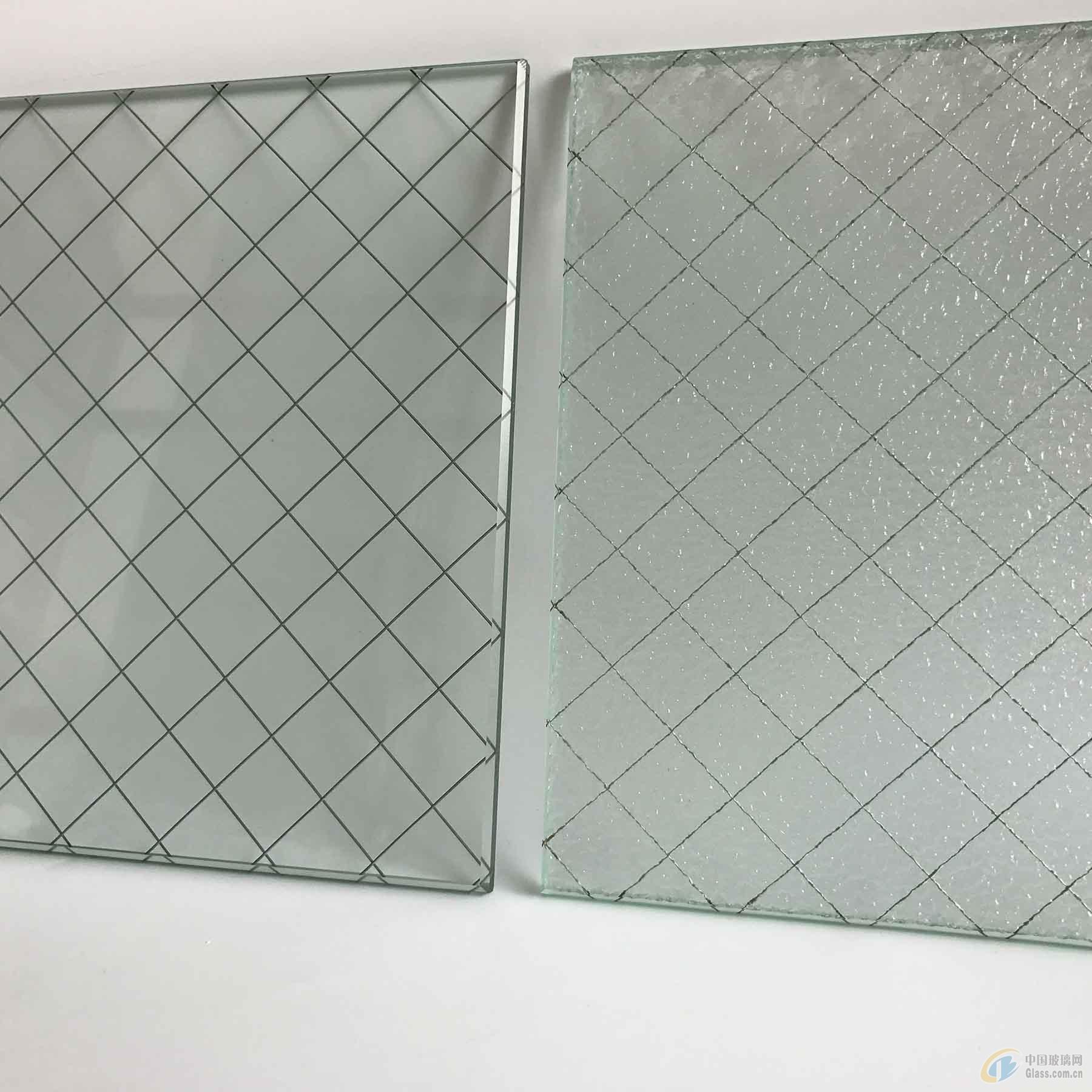 夹铁丝玻璃 钢丝玻璃 高透