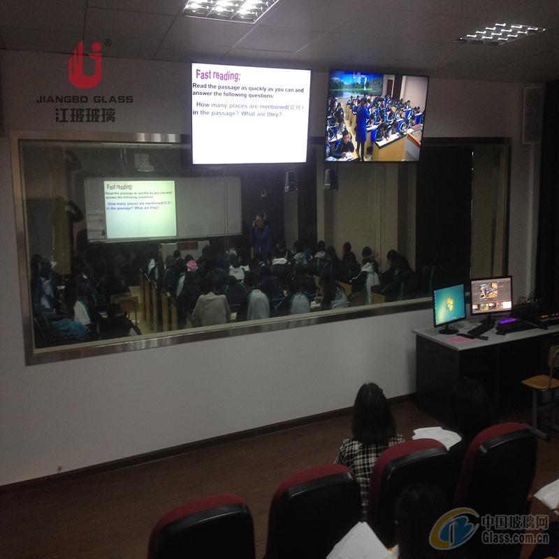 學校錄播室單向透過玻璃 單面可視玻璃