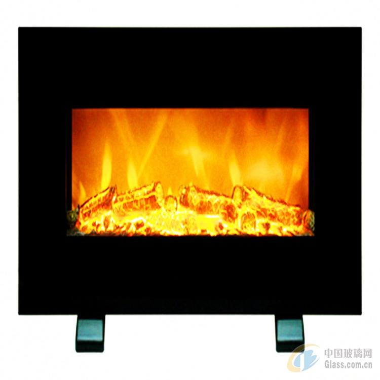 壁炉玻璃 定制壁炉玻璃 弧形弯钢玻璃