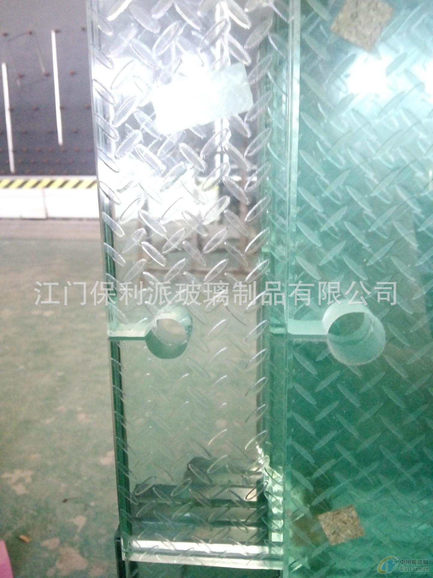 防滑玻璃 凹凸纹理玻璃 楼梯踩踏