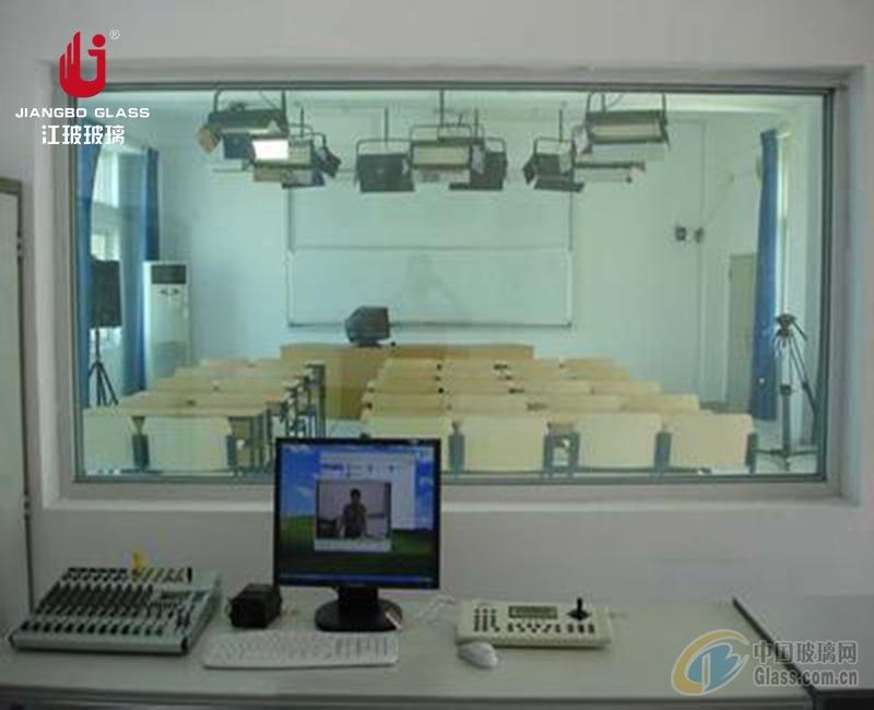 江玻 录播教室玻璃 学校听课室单向玻璃