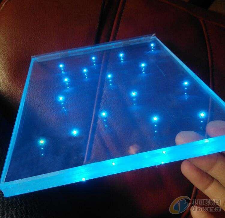 发光玻璃 玻璃内镶LED灯珠  特种玻璃