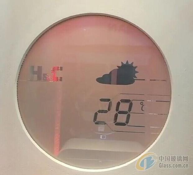 分区智能调光玻璃 动态显示时间、天气、温度