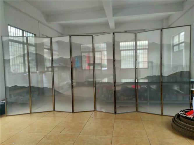绢画夹胶玻璃