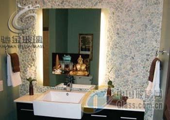 驰金 供应广告镜面玻璃 魔术镜面玻璃 厂家