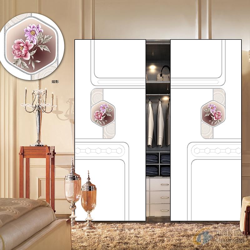 厂家成批出售高光封釉密度板  推拉门衣柜板材