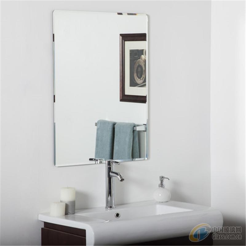 厂家供应无框浴室镜仿水镜子