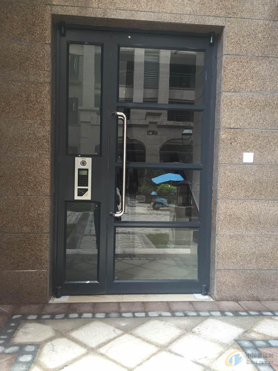 门禁一卡通过道铝合金大门【办公楼专用】