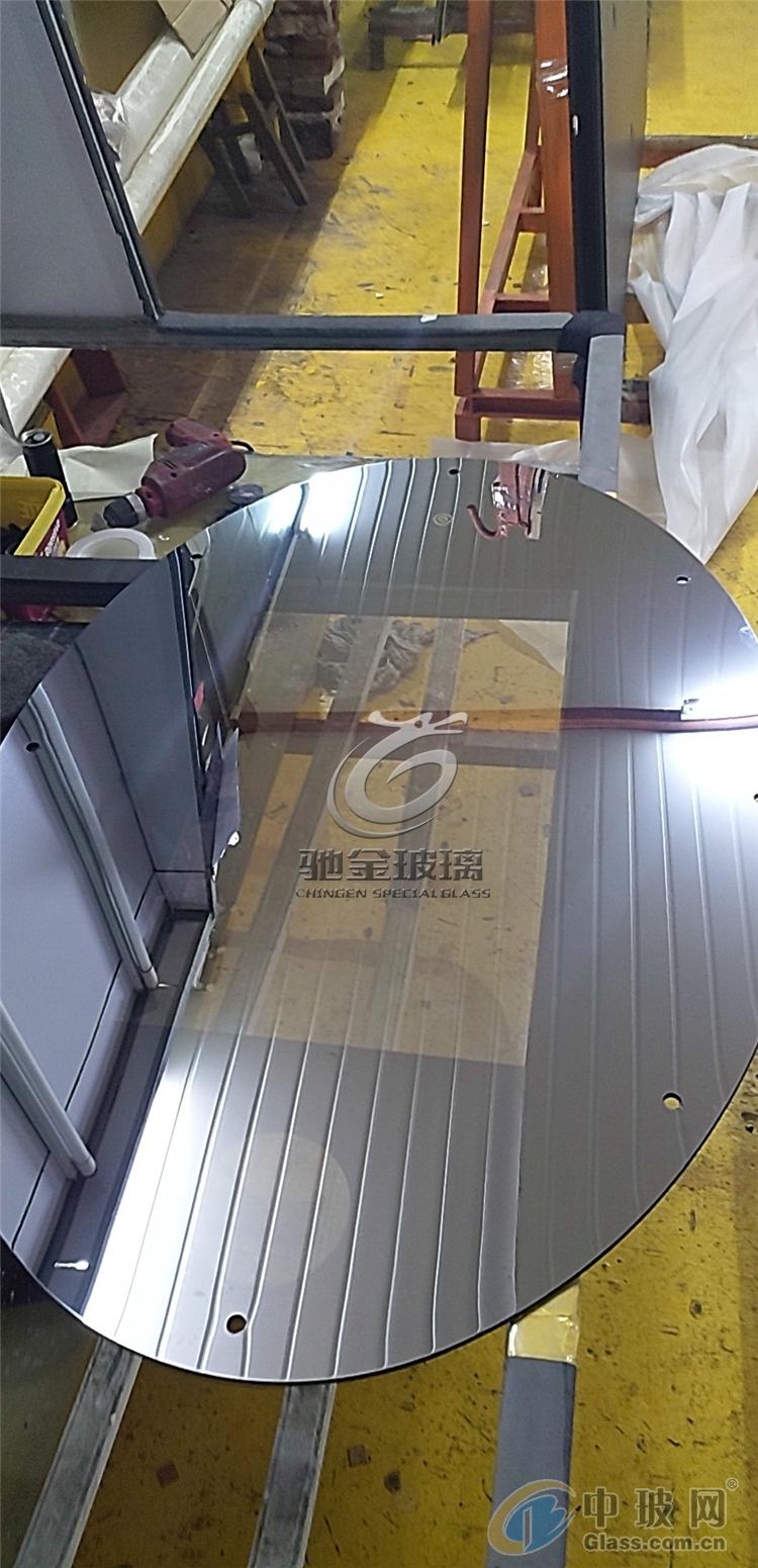 魔术镜显示器高透高反玻璃驰金