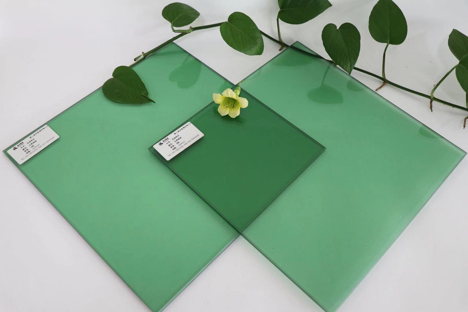 供应6mm浮法自然绿玻璃