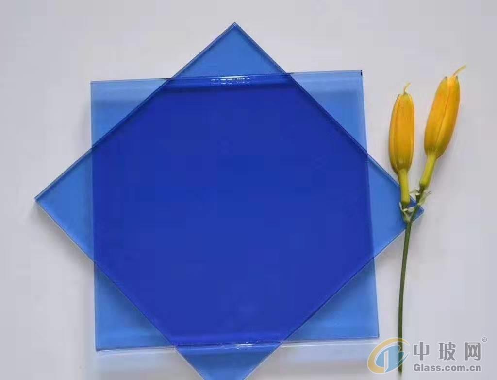 供应威海蓝星威海中玻宝石蓝玻璃原片
