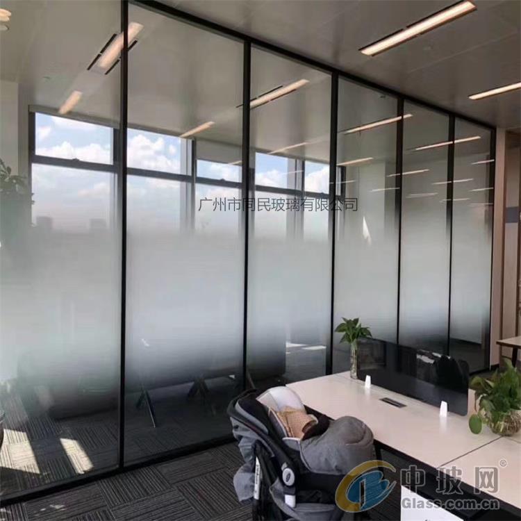 磨砂漸變玻璃 辦公隔斷玻璃 淋浴房漸變玻璃 廣州同民