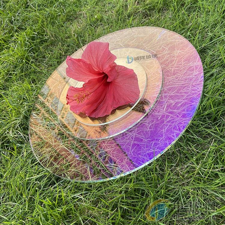 炫彩高透AR玻璃 透紫透蓝双面AR玻璃 光学钢化AR玻璃
