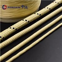 11mm鋼化爐輥道繩芳綸編織圓繩高溫耐熱繩抗切割阻燃兩色編織繩