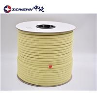 中绳 厂家直销辊道绳 10*4mm耐高温芳纶纤维钢化炉防火绳 芳纶阻燃绳