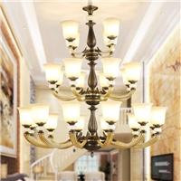 全銅仿玉石燈 全銅仿云石燈 全銅玻璃吊燈