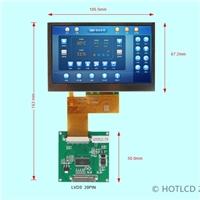 LVDS接口4.3寸TFT橫屏800*480分辨率