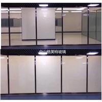 调光玻璃 变色雾化玻璃 变色电控玻璃 办公室会议室隔音玻璃