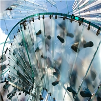 厂家直销定做高透防滑玻璃 安全夹胶防滑纹玻璃地板