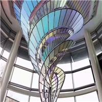 厂家生产夹胶炫彩玻璃 幻彩艺术玻璃 批发定做