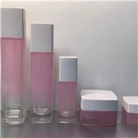 化妆品套装瓶生产厂家 喷漆玻璃瓶 拉管瓶定做