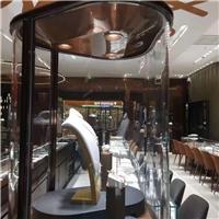 格美特超大展示柜玻璃 可定制熱彎鋼化展柜 壓花夾膠夾絲玻璃