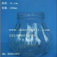1380ml醬菜玻璃瓶 大容量玻璃瓶 定做食品玻璃瓶