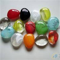 琉璃雨花石,彩色透明雨花石,景觀石