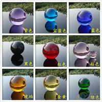 彩色水晶球,深圳装饰水晶球成批出售