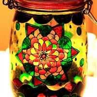 烤花玻璃瓶 工艺品瓶 密封罐