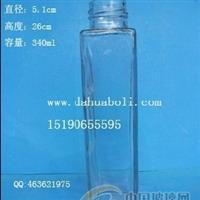 340ml方形果汁饮料玻璃瓶,果茶瓶