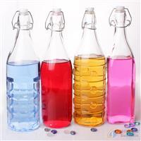 919方玻璃瓶圆气泡瓶方格瓶苹果瓶酵素瓶